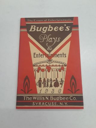 Bugbee's Plays & Entertainments