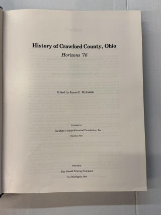 History of Crawford County, Ohio- Horizons '76 (Bicentennial Edition)