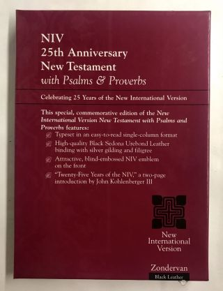 NIV 25th Anniversary New Testament With Psalms & Proverbs