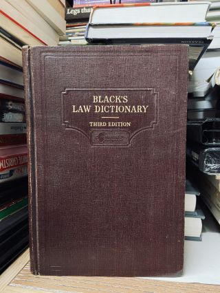 Black's Law Dictionary (Third Edition). Henry Cambell Black