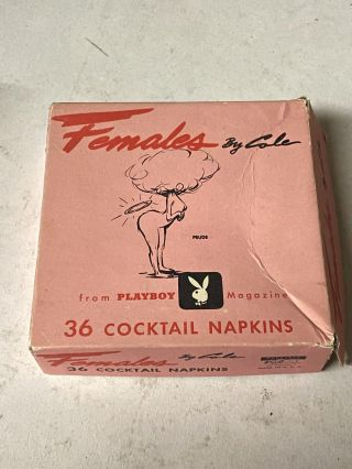 Females by Cole- 36 Cocktail Napkins from Playboy Magazine. Cole, Playboy Magazine