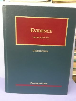 Evidence. George Fisher