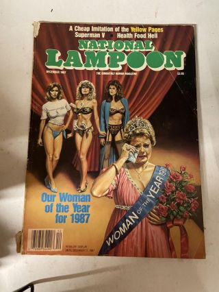 National Lampoon December 1987- Our Woman of the Year 1987