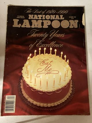 National Lampoon December 1990- Twenty Years of Excellence