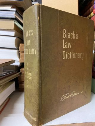 Black's Law Dictionary (Fourth Edition). Henry Campbell Black