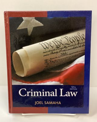 Criminal Law. Joel Samaha