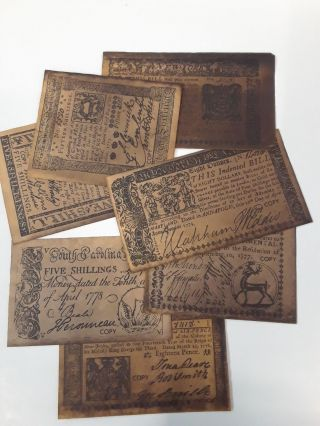 Colonial and Revolutionary Currency 1773-1781