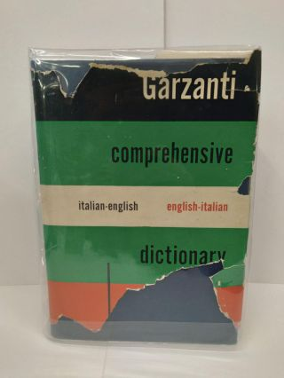 Garzanti Comprehensive Dictionary: Italian English / English Italian