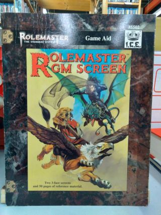 Rolemaster GM Screen: Game Aid