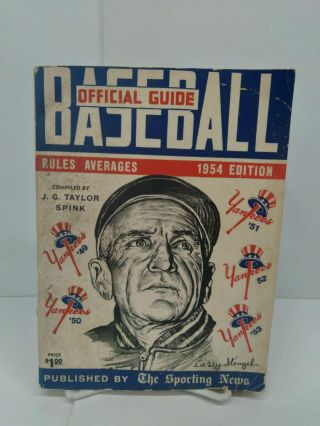 Official Baseball Guide 1954. J. G. Taylor Spink