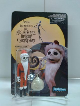 Tim Burton's The Nightmare Before Christmas ReAction Santa Jack Action Figure