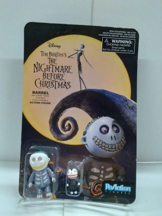 Tim Burton's The Nightmare Before Christmas ReAction Barrel With Scary Teddy Action Figure