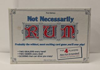 Not Necessarily Rum