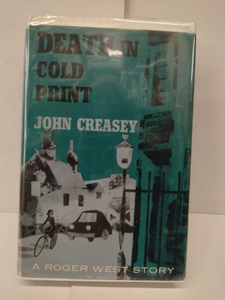 Death in Cold Print. John Creasey