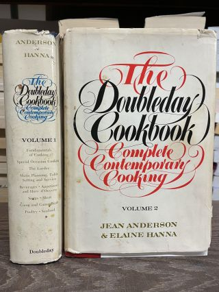 The Doubleday Cookbook: Complete Contemporary Cooking (Two Volume Set). Jean Anderson, Elaine Hanna