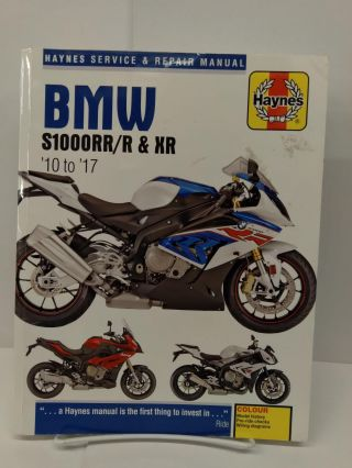BMW S1000RR/R & XR, '10-'17 Haynes Service & Repair Manual