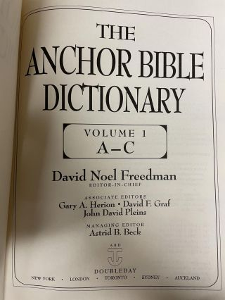 The Anchor Bible Dictionary (6-volume set)