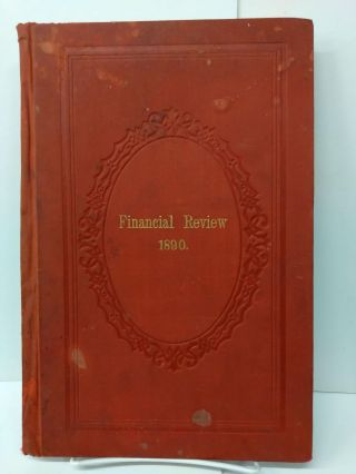 Financial Review 1890: Commerce, Banking, Investments