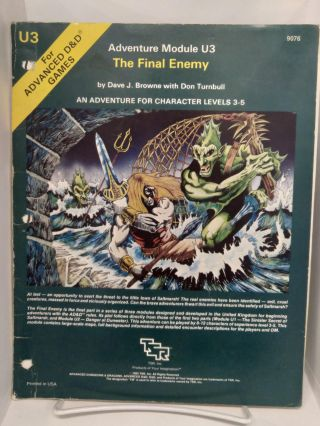 Adventure Module U3: The Final Enemy